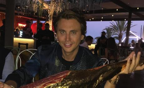 Jonathan Cheban Holds Up Food