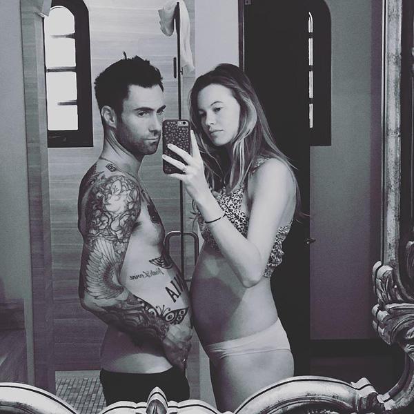Pregnant Behati Prinsloo... and Adam Levine
