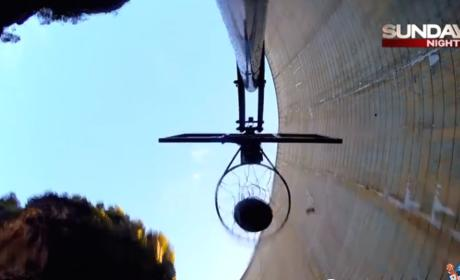 Record-Breaking Basketball Shot Launched Off Dam