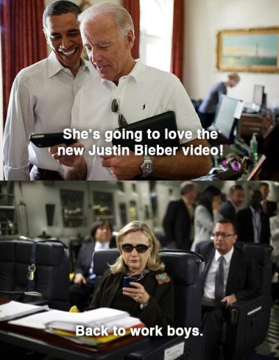 Clinton, Obama and Biden Texting
