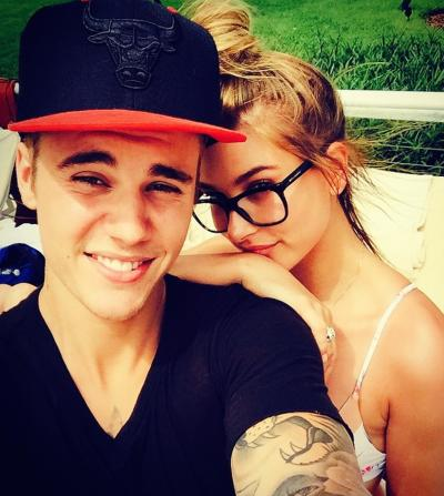 Justin Bieber and Hailey Baldwin Selfie