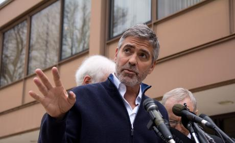 George Clooney Teams with George Bush to Aid Katrina Victims