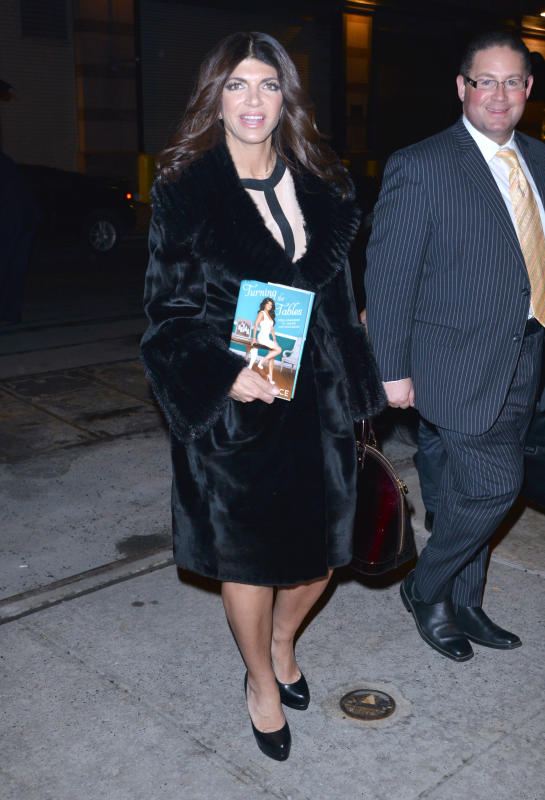 Teresa Giudice Shows Off Her Book in New York