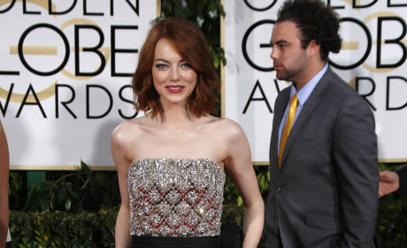 Emma Stone at the Golden Globes