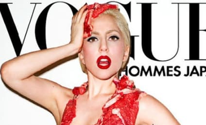 Lady Gaga For Vogue Japan: Naked... with Meat!