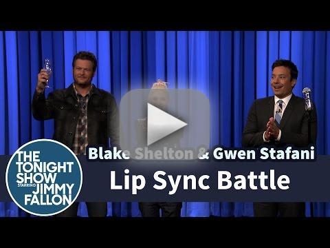Gwen Stefani and Blake Shelton Lip Sync Battle Against Jimmy Fallon