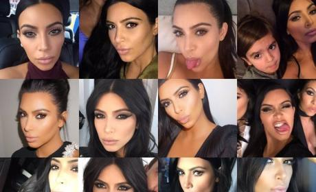 Kim Kardashian Selfies: A Year in Review