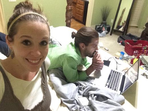 Jill and Derick Studying