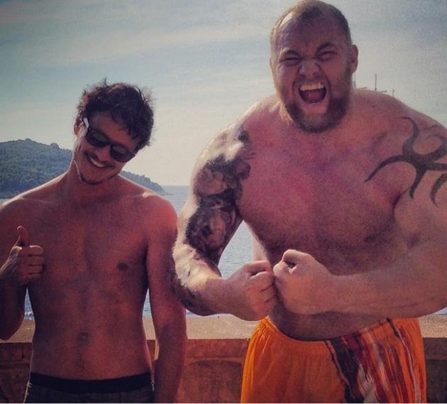 Pedro Pascal and Hafpor Julius Bjornsson