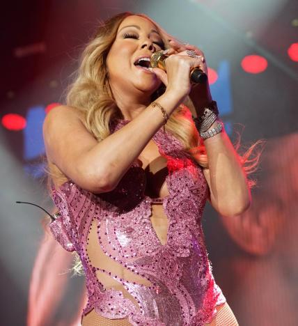 Mariah Carey on a Microphone