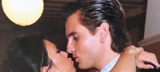 Kourtney Kardashian and Scott Disick Kiss