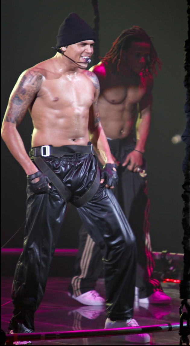 Chris Brown Shirtless