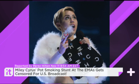 U.S. Censors Miley Cyrus Pot Smoking