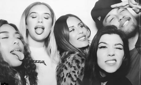 Kourtney Kardashian Inside a Photo Booth