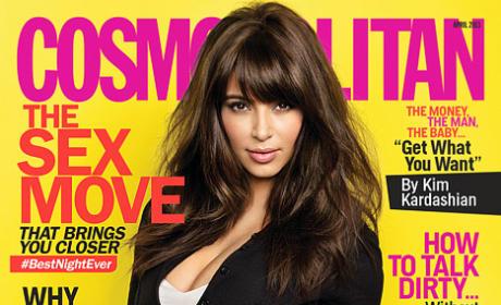 Kim Kardashian Cosmo Kover