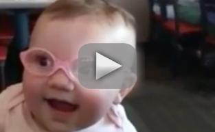 Baby Tries on First Pair of Glasses, Reacts in Epic Fashion