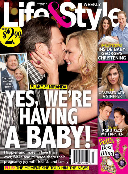 Miranda Lambert Pregnant Cover