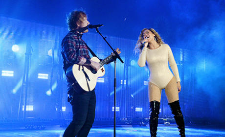 "Beyonce and Ed Sheeran Are ""Drunk in Love"" in NYC"