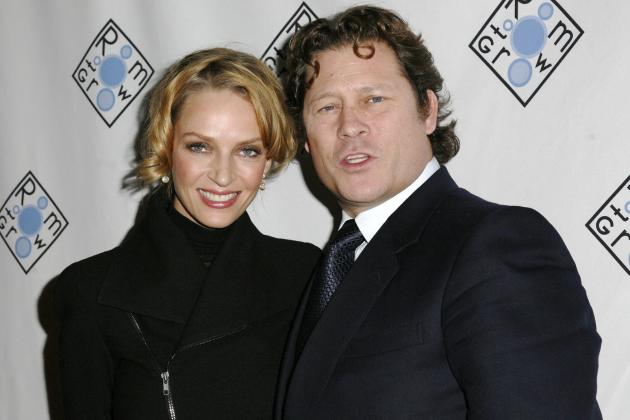Arpad Busson and Uma Thurman Photo