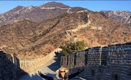 Katy Perry on Great Wall of China