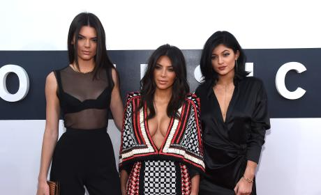 Kendall Jenner, Kim Kardashian and Kylie Jenner: 2014 MTV Video Music Awards