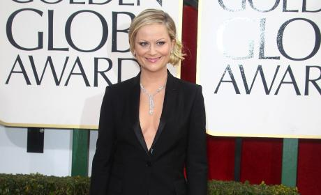 Amy Poehler at the Golden Globes