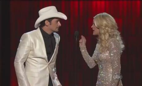 Carrie Underwood and Brad Paisley Go Gangnam Style at CMAs