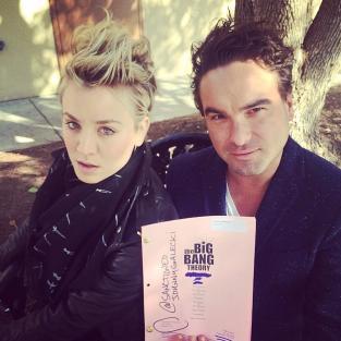 Kaley Cuoco and Johnny Galecki Photo