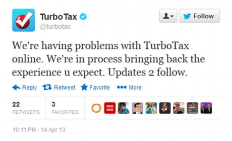 TurboTax Online Crashes, Slackers Recoil in Abject Terror on Twitter