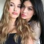 Kylie Jenner and Hailey Baldwin, glammed up