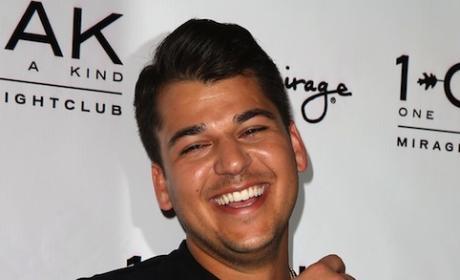 Rob Kardashian Smiles