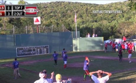 Best Wiffle Ball Catch Ever Seals Charity Game Win