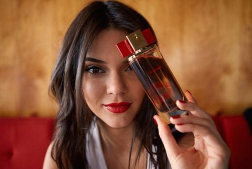 Kendall Jenner with Perfume