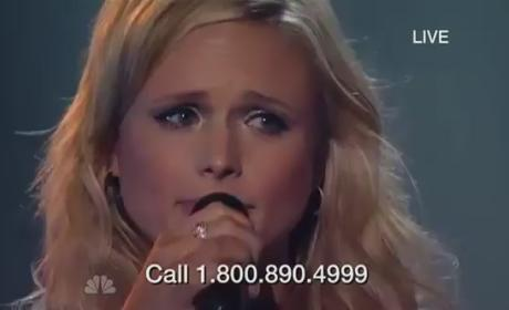 Miranda Lambert Tears Up During Tornado Relief Concert Performance