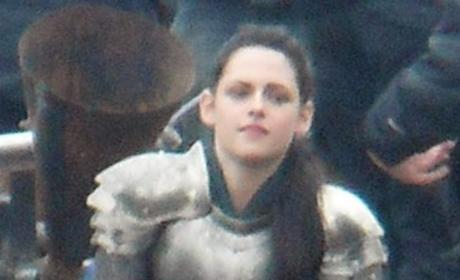 Kristen Stewart Filming Snow White