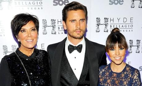 Kourtney, Kris and Scott