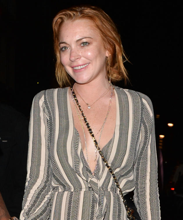 Lindsay Lohan in the Hamptons