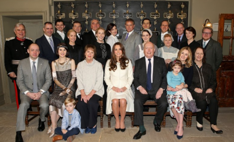 Kate Middleton on Downton Abbey Set