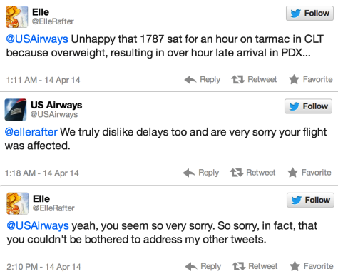 US Airways Tweets
