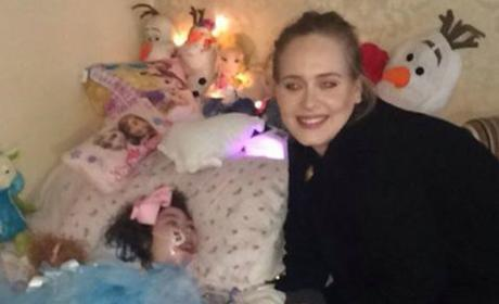 Adele Surprises 12-Year-Old Fan With Visit to Her Bedside