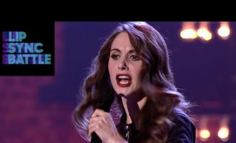 "Alison Brie Sexes Up ""Shoop"" on Lip Sync Battle: Watch!"