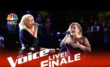 Meghan Linsey and Kelly Clarkson - Invincible (The Voice Finale)