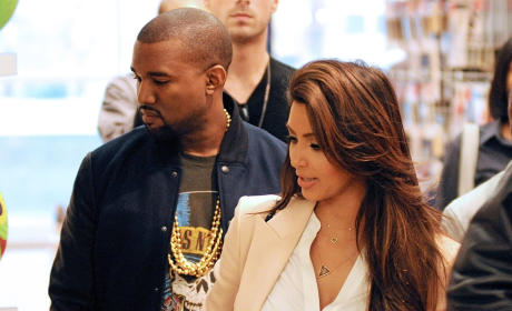 Kim Kardashian and Kanye West in NYC