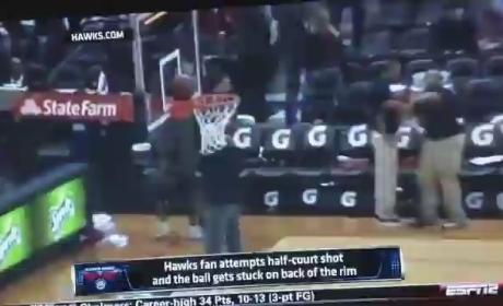 Atlanta Hawks Fan Misses Half-Court Shot in Epic Fashion
