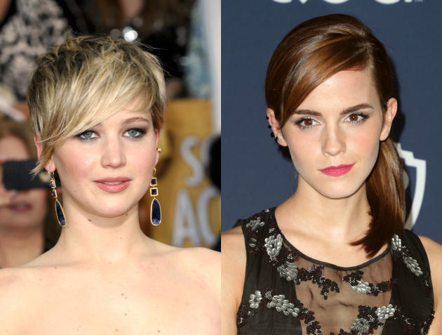 Jennifer Lawrence and Emma Watson