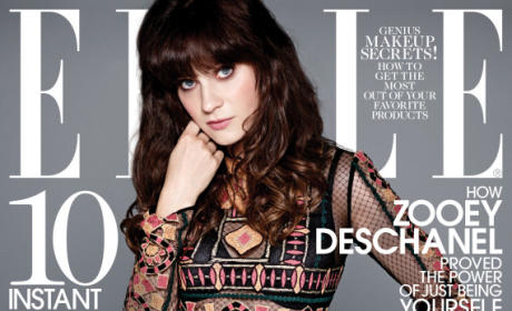 Zooey Deschanel Elle Cover