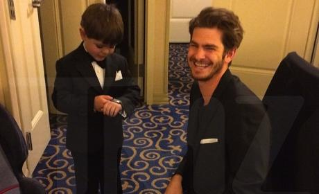 Batkid Miles Scott: Snubbed By Oscars, Still BFF with Andrew Garfield