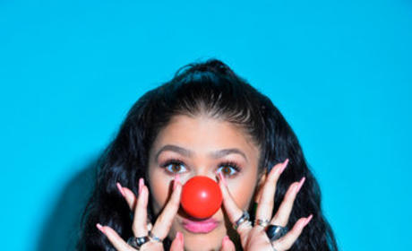 Zendaya Red Nose Photo