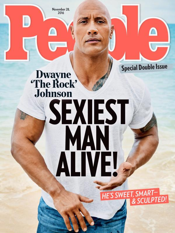 Dwayne johnson peoples sexiest man alive