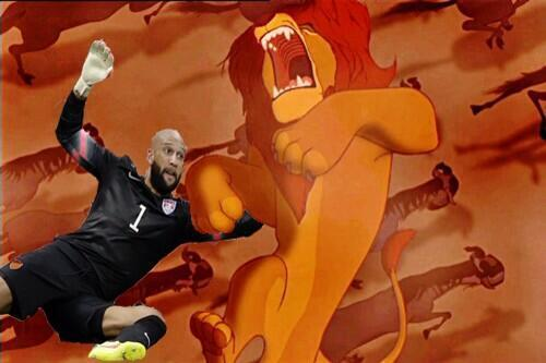 Tim Howard Saves Mufasa!